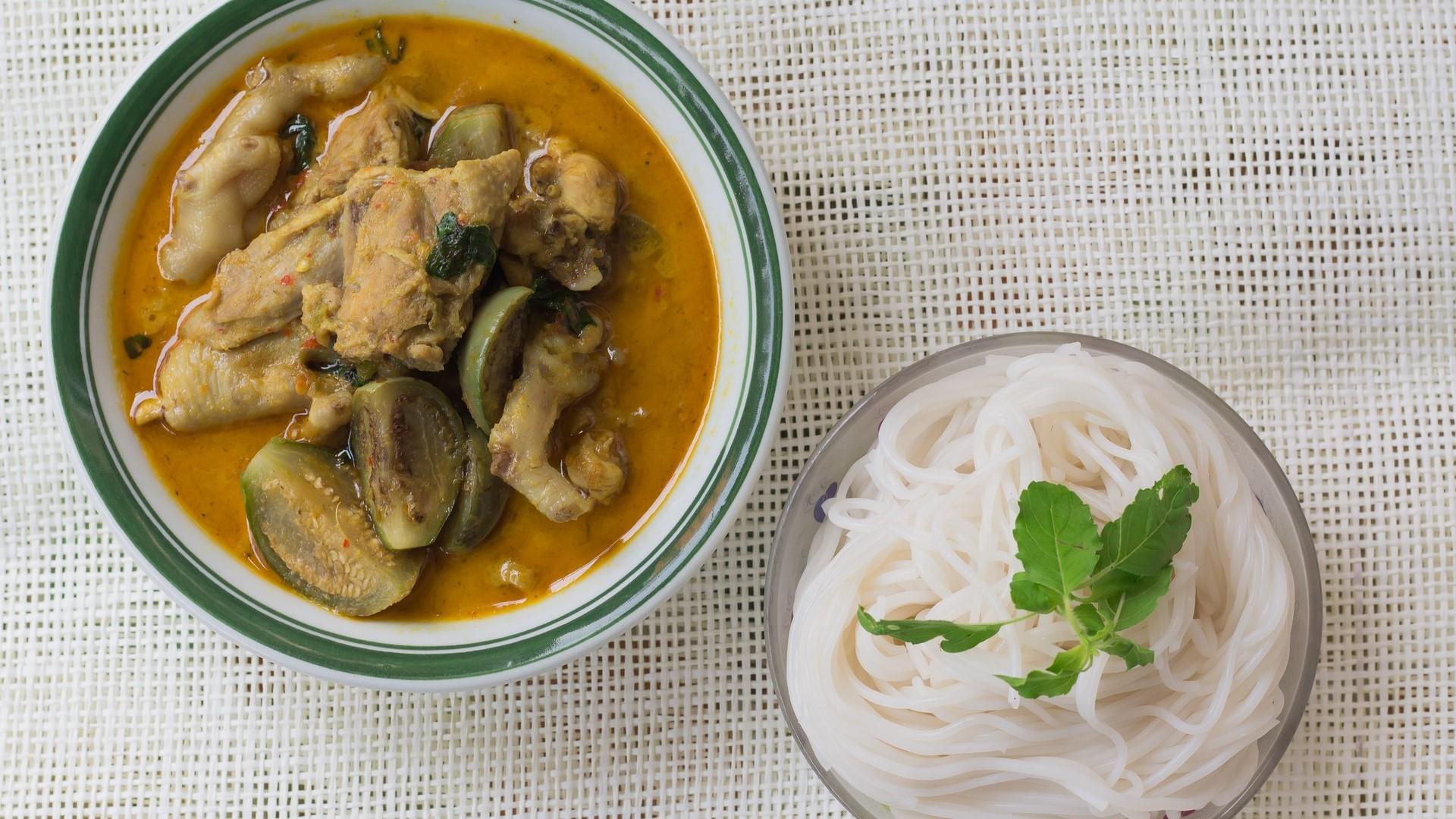 Poulet curry-coco à l'autocuiseur